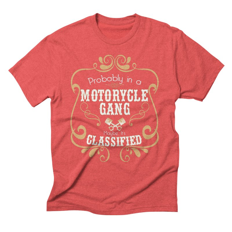 Motorcycle Gang Men's Triblend T-Shirt by XXXIII Apparel