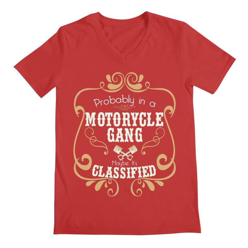 Motorcycle Gang Men's Regular V-Neck by XXXIII Apparel