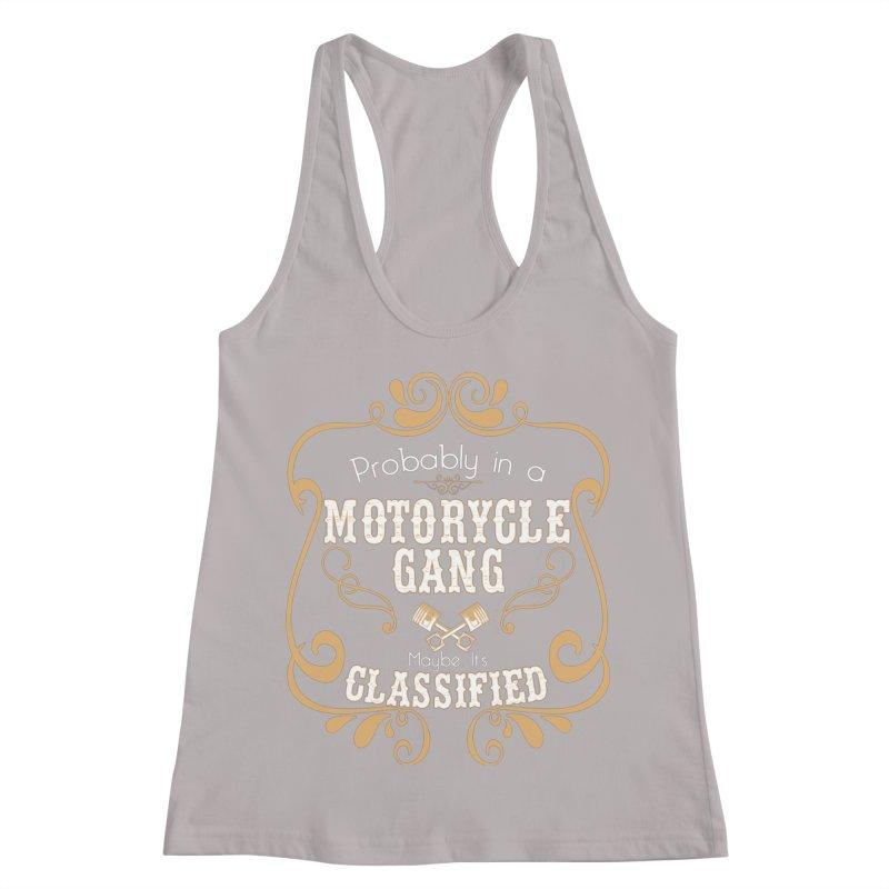 Motorcycle Gang Women's Racerback Tank by XXXIII Apparel