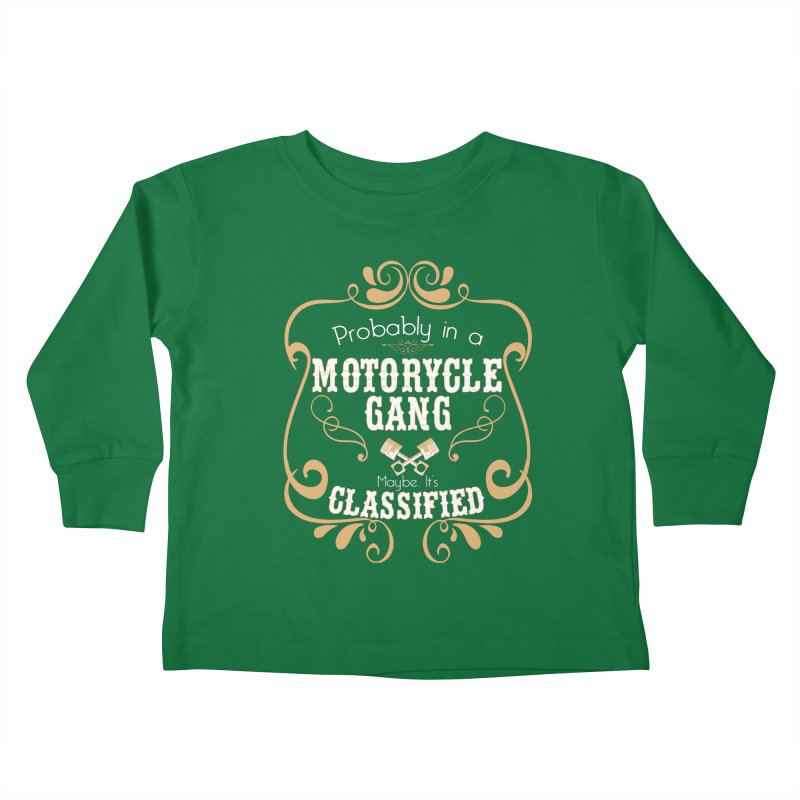Motorcycle Gang Kids Toddler Longsleeve T-Shirt by XXXIII Apparel