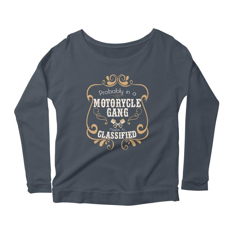 Motorcycle Gang Women's Scoop Neck Longsleeve T-Shirt by XXXIII Apparel