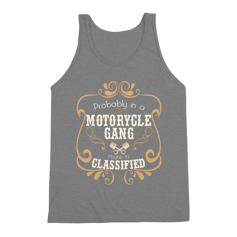 Motorcycle Gang Men's Triblend Tank by XXXIII Apparel