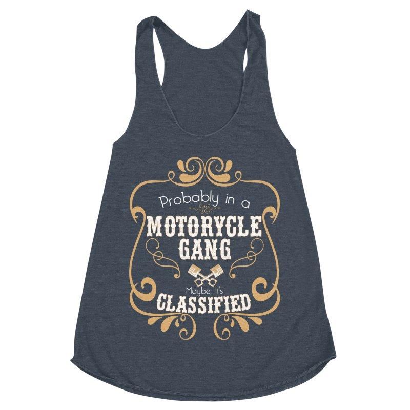 Motorcycle Gang Women's Racerback Triblend Tank by XXXIII Apparel