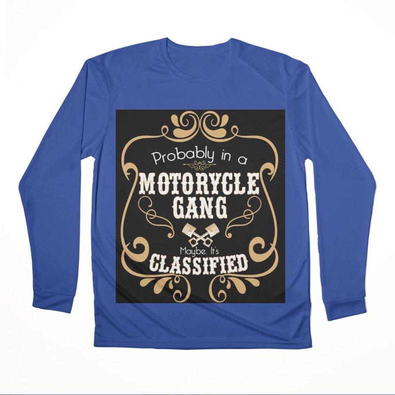 Motorcycle Gang - Dark Women's Performance Unisex Longsleeve T-Shirt by XXXIII Apparel