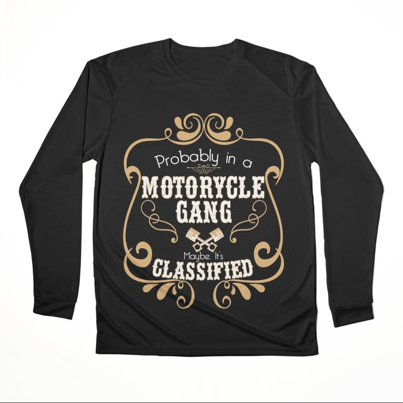 Motorcycle Gang - Dark Men's Performance Longsleeve T-Shirt by XXXIII Apparel