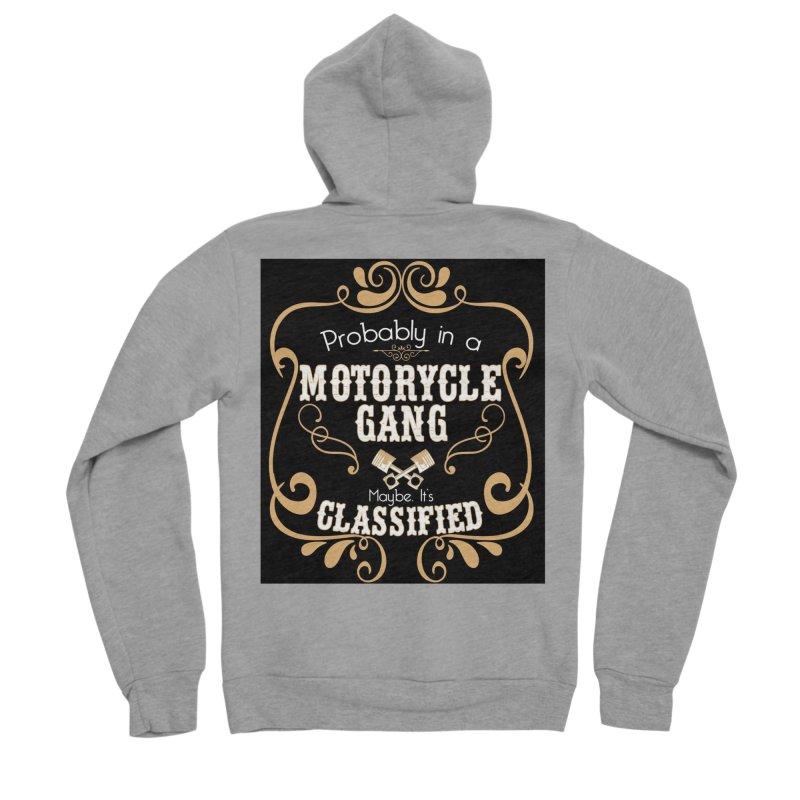 Motorcycle Gang - Dark Men's Sponge Fleece Zip-Up Hoody by XXXIII Apparel