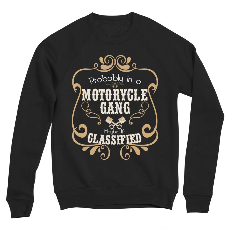 Motorcycle Gang - Dark Women's Sponge Fleece Sweatshirt by XXXIII Apparel