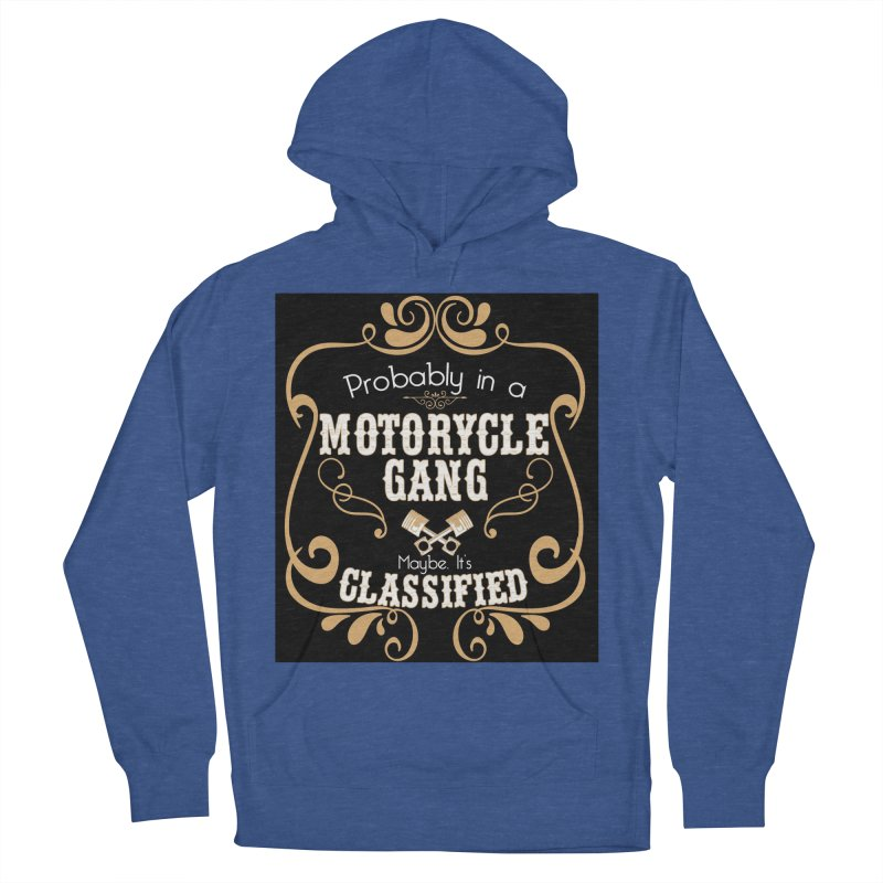 Motorcycle Gang - Dark Women's French Terry Pullover Hoody by XXXIII Apparel