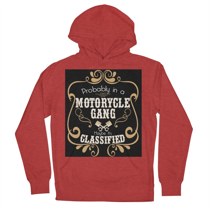 Motorcycle Gang - Dark Men's French Terry Pullover Hoody by XXXIII Apparel