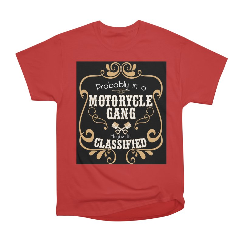 Motorcycle Gang - Dark Men's Heavyweight T-Shirt by XXXIII Apparel