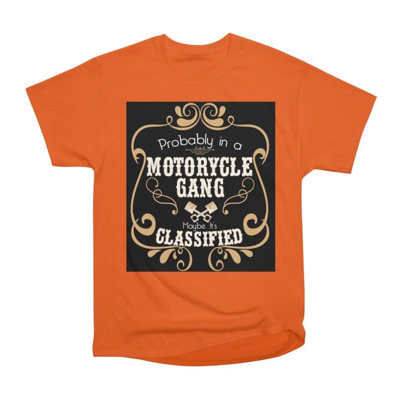 Motorcycle Gang - Dark Women's Heavyweight Unisex T-Shirt by XXXIII Apparel