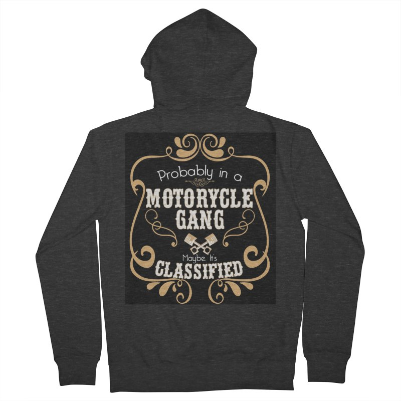 Motorcycle Gang - Dark Women's French Terry Zip-Up Hoody by XXXIII Apparel