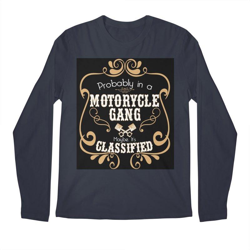 Motorcycle Gang - Dark Men's Regular Longsleeve T-Shirt by XXXIII Apparel