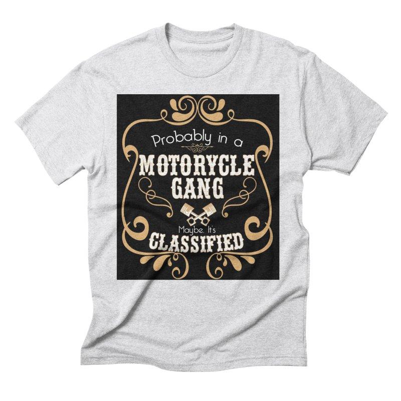 Motorcycle Gang - Dark Men's Triblend T-Shirt by XXXIII Apparel