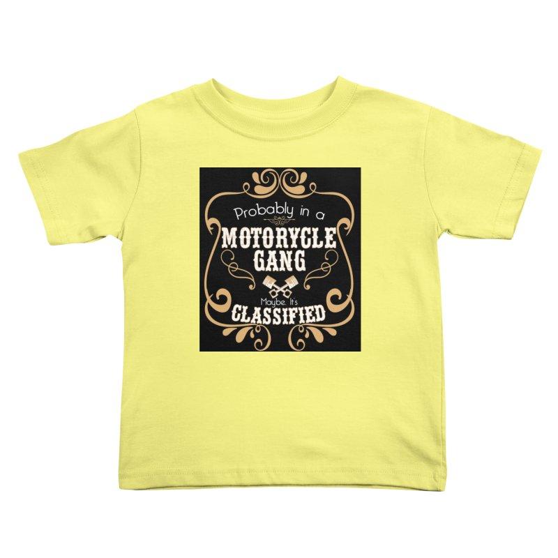 Motorcycle Gang - Dark Kids Toddler T-Shirt by XXXIII Apparel