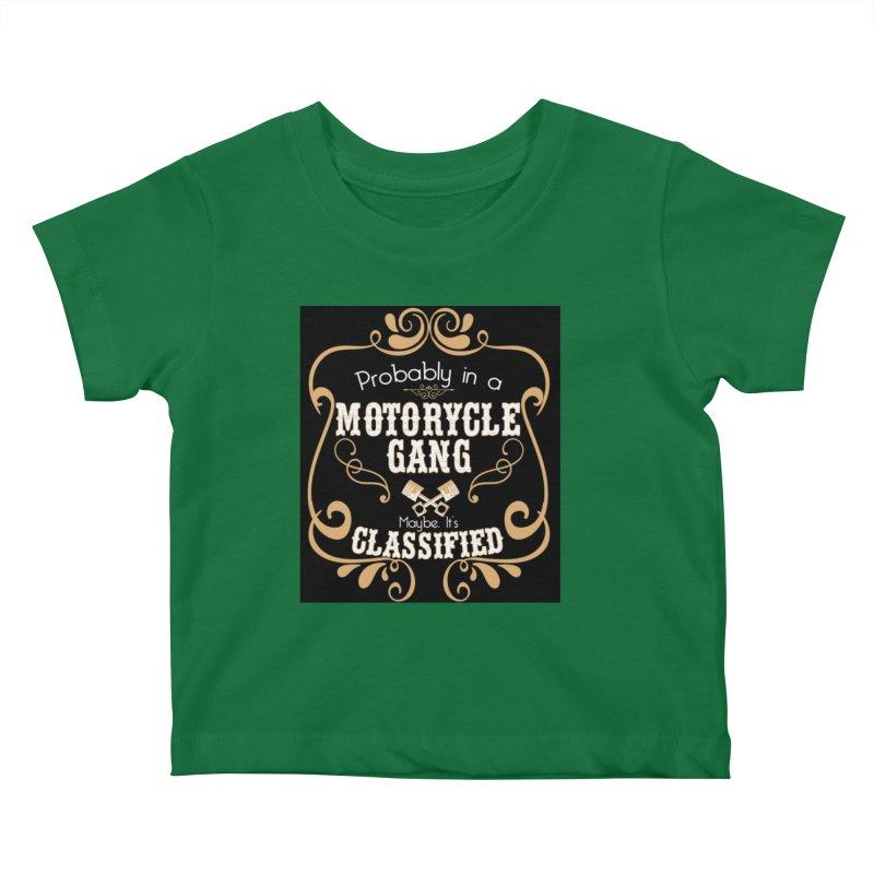 Motorcycle Gang - Dark Kids Baby T-Shirt by XXXIII Apparel