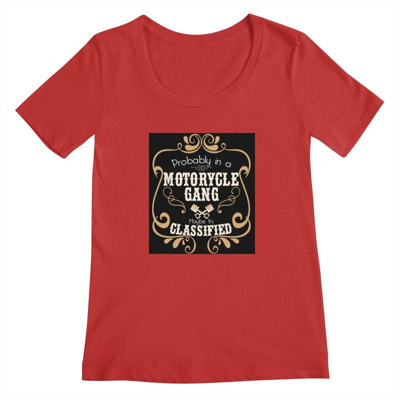 Motorcycle Gang - Dark Women's Regular Scoop Neck by XXXIII Apparel