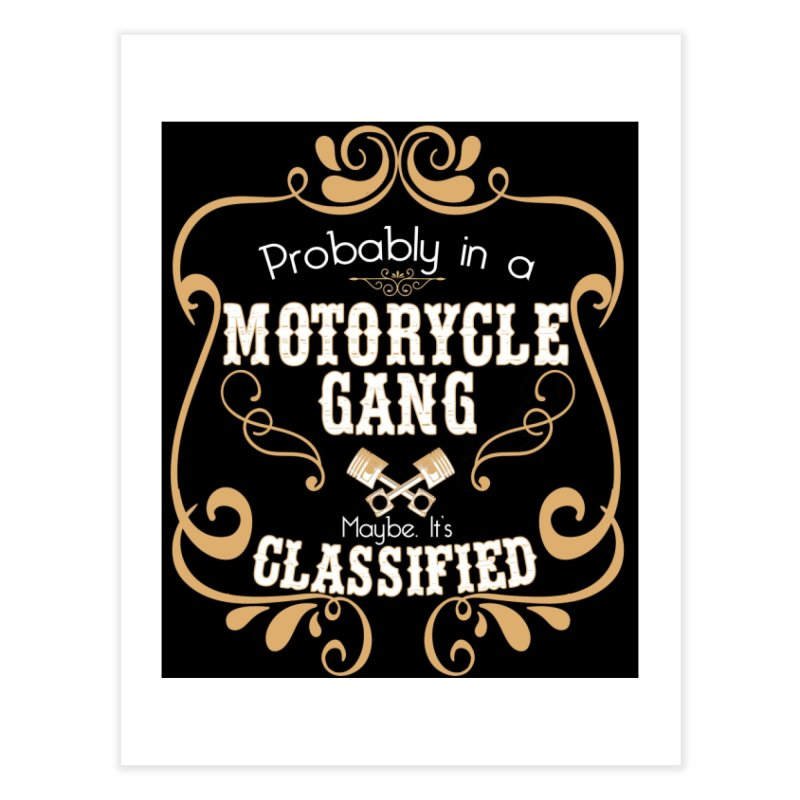 Motorcycle Gang - Dark Home Fine Art Print by XXXIII Apparel