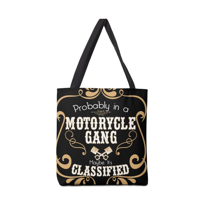 Motorcycle Gang - Dark Accessories Tote Bag Bag by XXXIII Apparel