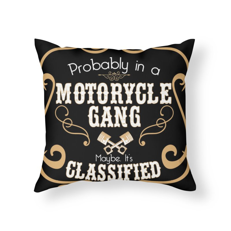 Motorcycle Gang - Dark Home Throw Pillow by XXXIII Apparel