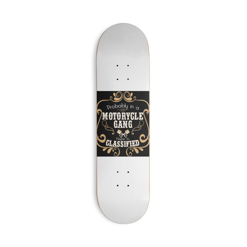 Motorcycle Gang - Dark Accessories Deck Only Skateboard by XXXIII Apparel