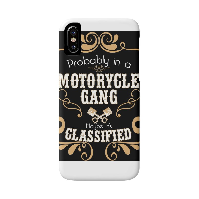Motorcycle Gang - Dark Accessories Phone Case by XXXIII Apparel
