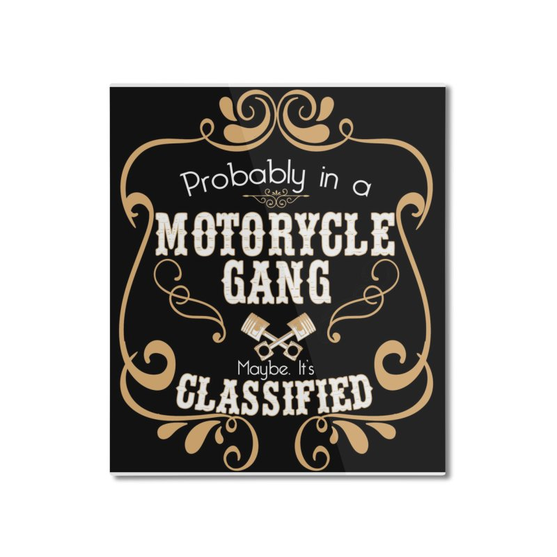 Motorcycle Gang - Dark Home Mounted Aluminum Print by XXXIII Apparel