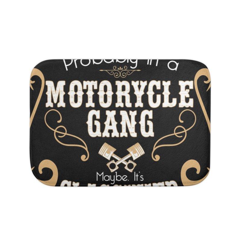 Motorcycle Gang - Dark Home Bath Mat by XXXIII Apparel