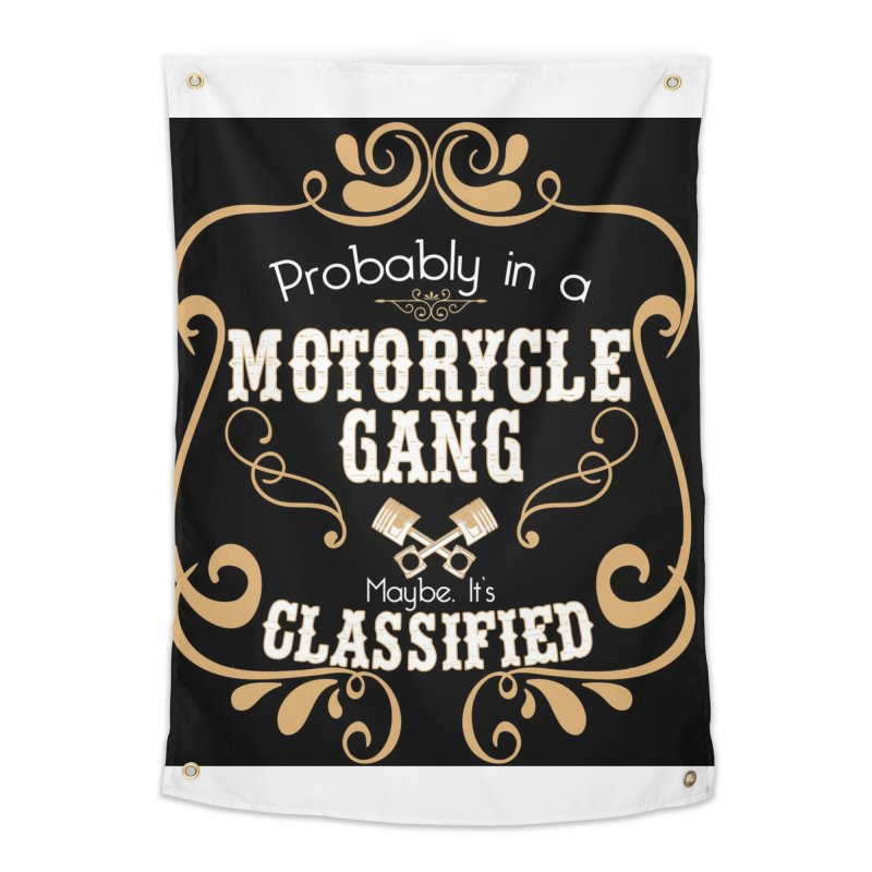 Motorcycle Gang - Dark Home Tapestry by XXXIII Apparel