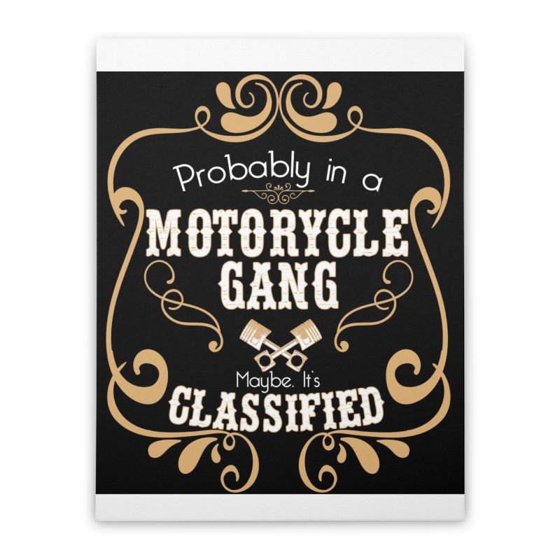 Motorcycle Gang - Dark Home Stretched Canvas by XXXIII Apparel