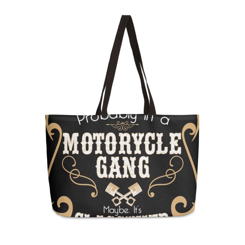 Motorcycle Gang - Dark Accessories Weekender Bag Bag by XXXIII Apparel