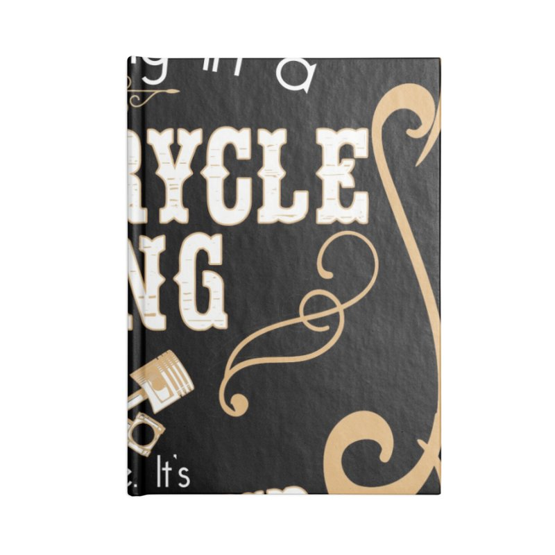 Motorcycle Gang - Dark Accessories Lined Journal Notebook by XXXIII Apparel
