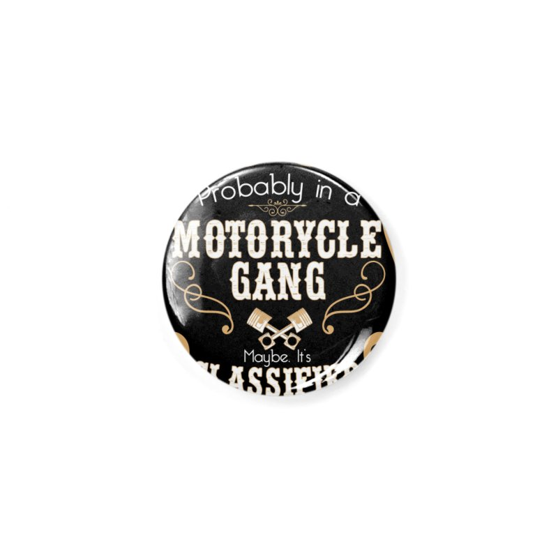 Motorcycle Gang - Dark Accessories Button by XXXIII Apparel