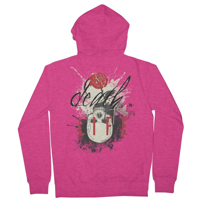 Death to Life Women's French Terry Zip-Up Hoody by XXXIII Apparel