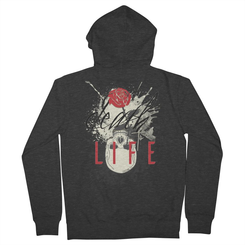 Death to Life Men's French Terry Zip-Up Hoody by XXXIII Apparel