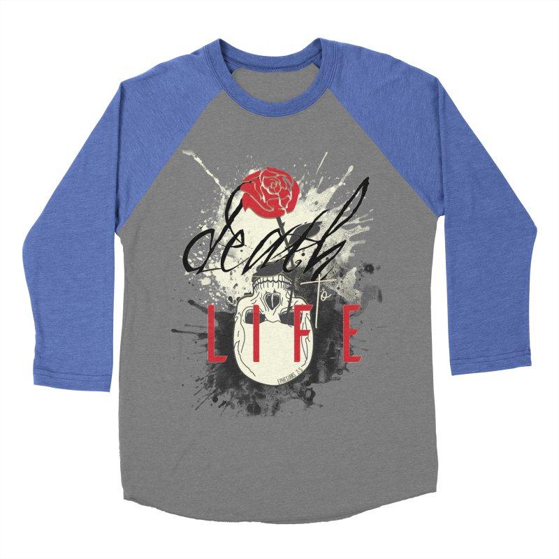 Death to Life Women's Baseball Triblend Longsleeve T-Shirt by XXXIII Apparel