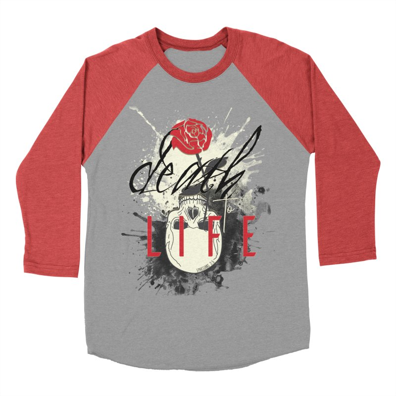 Death to Life Women's Baseball Triblend Longsleeve T-Shirt by XXXIII Apparel