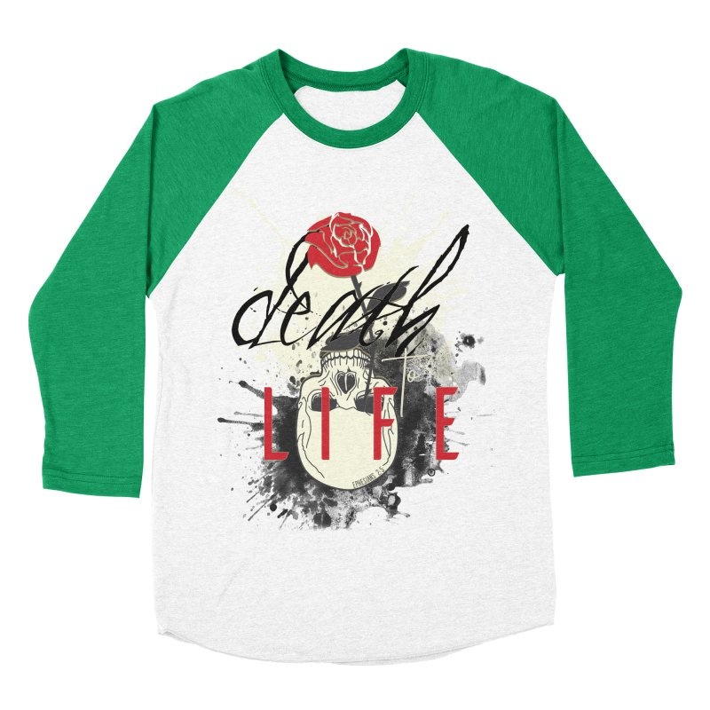 Death to Life Men's Baseball Triblend Longsleeve T-Shirt by XXXIII Apparel
