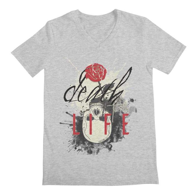 Death to Life Men's Regular V-Neck by XXXIII Apparel