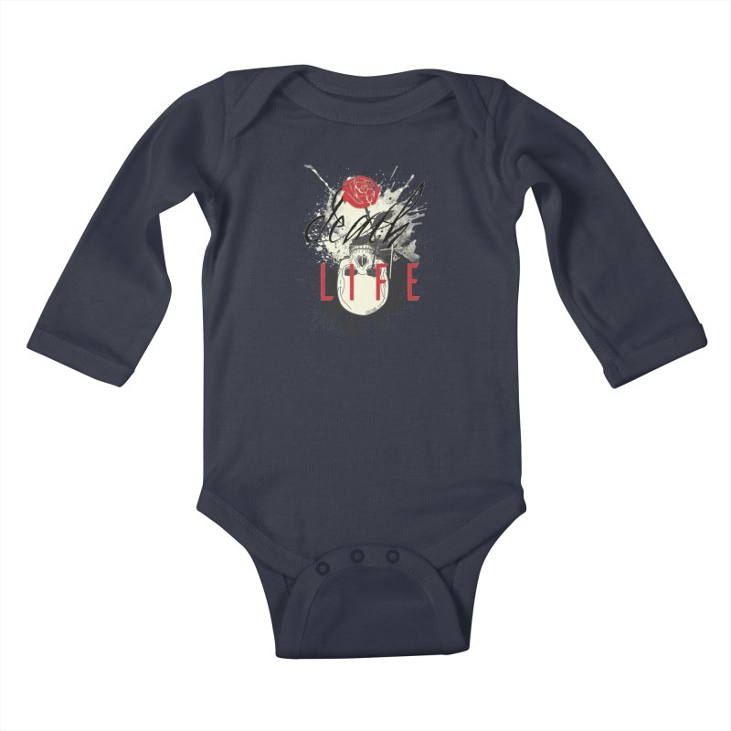 Death to Life Kids Baby Longsleeve Bodysuit by XXXIII Apparel