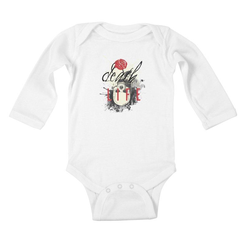 Death to Life Kids Baby Longsleeve Bodysuit by XXXIII Apparel
