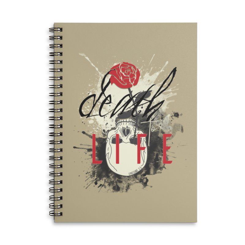 Death to Life Accessories Lined Spiral Notebook by XXXIII Apparel