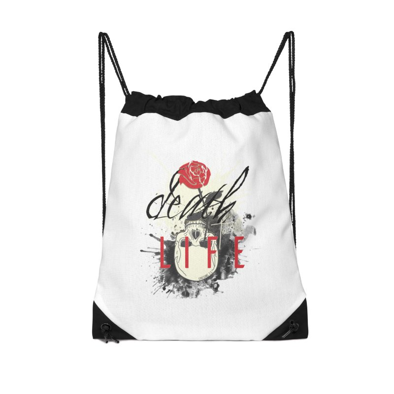 Death to Life Accessories Drawstring Bag Bag by XXXIII Apparel
