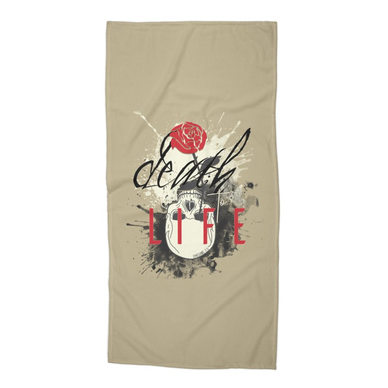 Death to Life Accessories Beach Towel by XXXIII Apparel