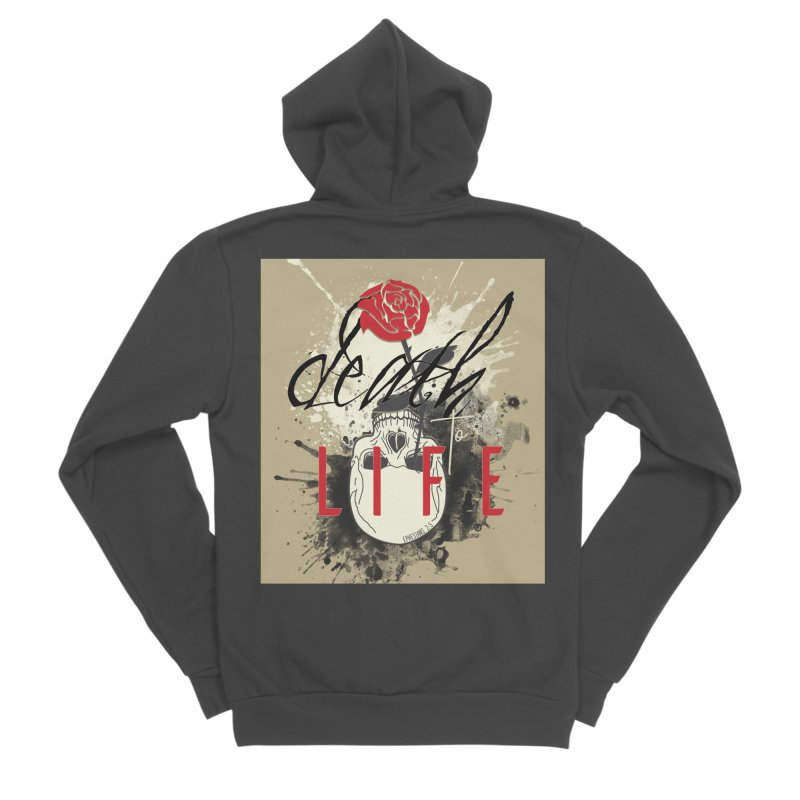 Death to Life Women's Sponge Fleece Zip-Up Hoody by XXXIII Apparel