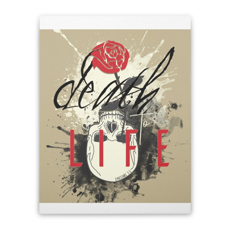 Death to Life Home Stretched Canvas by XXXIII Apparel