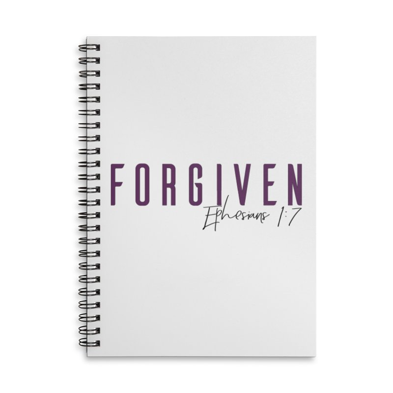 Forgiven Accessories Lined Spiral Notebook by XXXIII Apparel