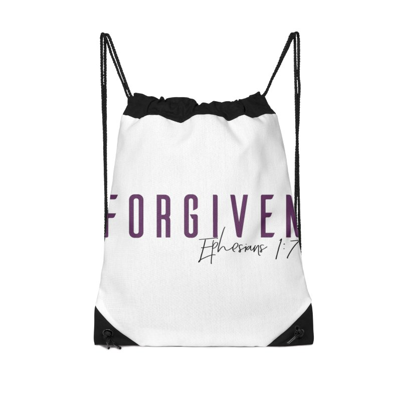 Forgiven Accessories Drawstring Bag Bag by XXXIII Apparel