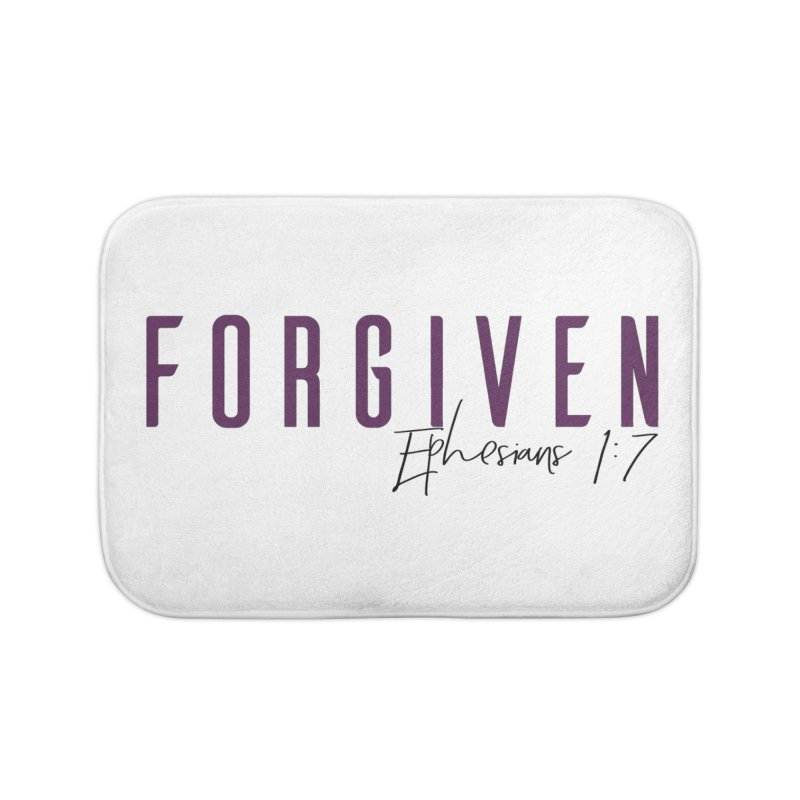 Forgiven Home Bath Mat by XXXIII Apparel