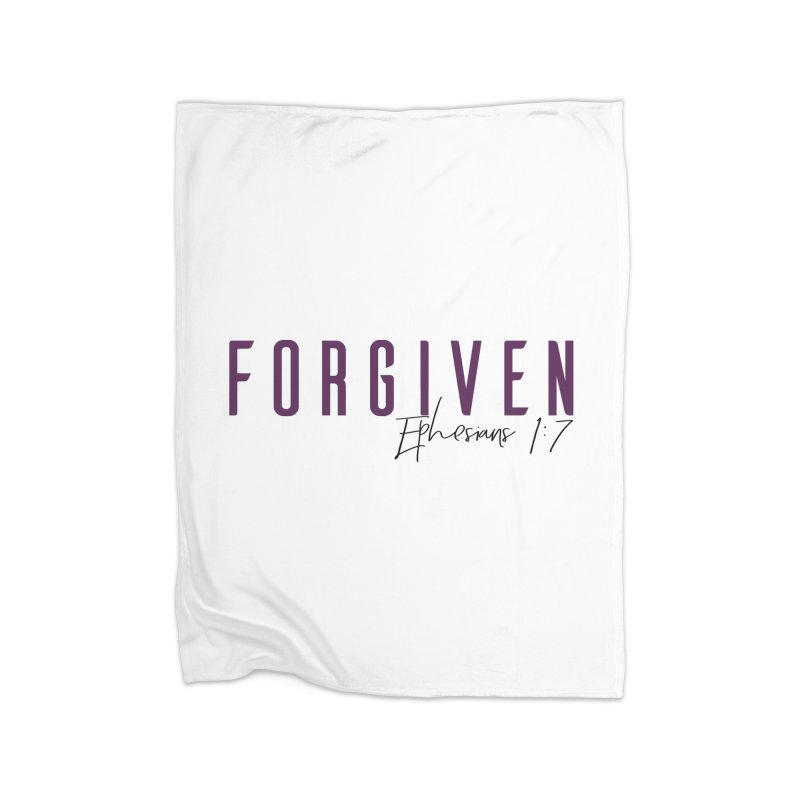 Forgiven Home Fleece Blanket Blanket by XXXIII Apparel
